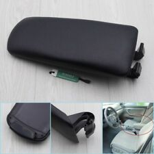 Black Leather Armrest Centre Console Cover Lid for Audi A4 B7 02-07 2003 2004