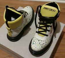 ~~~ Jimmy Choo Galaxy Paint Splatter High-Top Sneakers White Size 45 US 12 ~~~