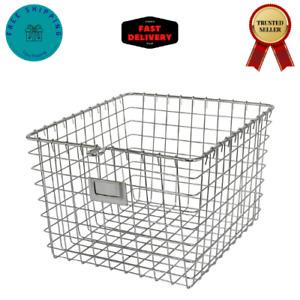 Spectrum Diversified 47970 Wire, Vintage Locker Basket Style, Rustic Farmhouse