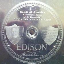 "NY Military Band - Spirit Of America / Navel Reserve March 10"" VG Edison 78 1st"