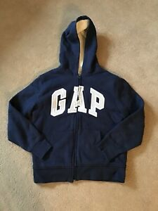 Boys Fleecy Lined Zip Up Hoodie From Gap - Size XL (Age 12+)