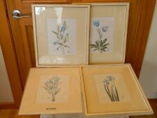 Series of 4 Lynde Lende Blue Floral Series SIGNED AND NUMBERED LTD. ED. UNFRAMED