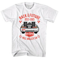 Back to The Future Vintage DeLorean 1985 Men's T Shirt Hill Valley 88mph Movie