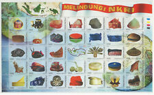 INDONESIA 2018-13 TRADITIONAL CUSTOME HAT FLAG MAP FS FULLSHEET STAMPS MNH