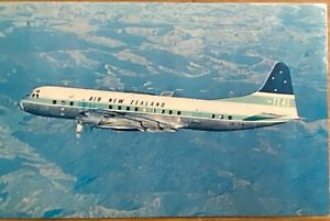 AIRLINE - 1950's TEAL N.Z. Electra Airline Issued Postcard