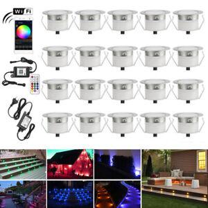 45mm WIFI Control Decking Light Kit RGBW/RGB Garden Kitchen Light Waterproof