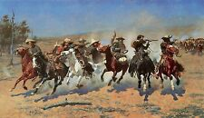 A Dash for the Timber by Frederic Remington Western Cowboys Canvas Giclee 18x36