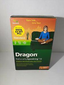 Dragon Naturally Speaking 10 with microphone Windows Vista & 7 32 bit + Headset