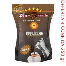 "Caffe' Guglielmo Macinato  Bar 5 stelle (4 x 250 gr tot. kg 1  "" Aroma Caffè """
