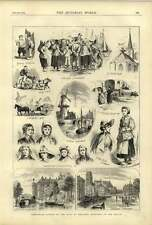 1874 Coronation Jubilee King Of Holland Sketches Hague