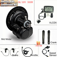 36V/48V Electric Bike Bicycle Mid-drive Motor VLCD5 Panel Conversion Kit Refit