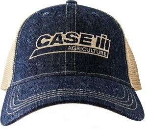 CASE IH *BLUE DENIM & TAN MESH BACK* LOGO TWILL Hat Cap NEW CIH2651