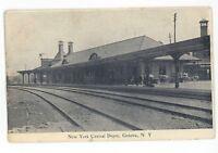 NYC New York Central Railroad Station Depot GENEVA NY Vintage Postcard