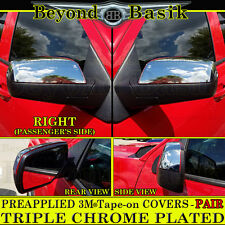 2014-2018 Chevy Silverado GMC Sierra Chrome Mirror Covers NON TOWING Top overlay