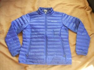Ladies Columbia Lightweight Quilted Puffa Style Duck Down Feather Blue Jacket XL