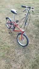 VINTAGE 1986 DAHON FOLDER BICYCLE  NOS 3 speed Sturmey Archer RED folding bike