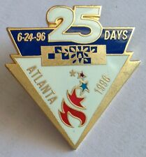 Atlanta 1996 25 Days Olympic Games Torch Countdown Pin Badge Rare Vintage (F1)