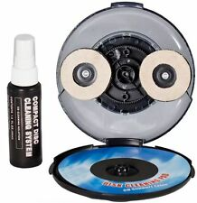 Cleaning DVD CD Game Disc Twin Brush Lens Manual Radial Kit Cleaner Wii Xbox Ps2