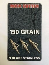 ROCK CUTTER BROAD HEADS 150 GRAIN 3-PACK PERFECT FOR THAT BARNETT CROSSBOW !!