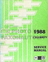 1988 Chevrolet Celebrity Repair Shop Manual Chevy 88