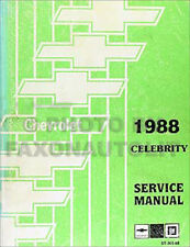 1988 Chevrolet Celebrity Repair Shop Manual Chevy 88