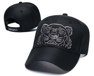 Kenzo Unisex Tiger Black Adjustable Baseball Cap