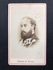 Victorian Carte De Visite CDV: Prince Of Wales (later Edward VII)