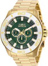 Invicta 28223 Pro Diver Men's 50mm Chronograph Gold-tone Green Dial Watch