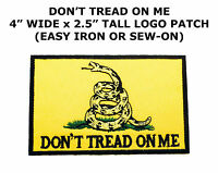DON'T TREAD ON ME GADSDEN FLAG PATCH AMERICAN REVOLUTION embroidered NEW