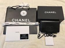 Chanel O-Mini Bag (Wallet on Chain) - Authentic -Lambskin - Crossbody - Receipt