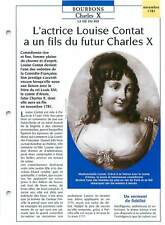 KING ROI CHARLES X ACTRESS ACTRICE LOUISE CONTAT COMEDIE FRANCAISE FICHE FRANCE