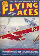 Flying Ace 12/1936-hero pulp-Kerry Keen-Al McWilliams-VG