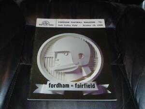 1968 FAIRFIELD AT FORDHAM FOOTBALL PROGRAM  EX-MINT