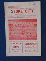 Stoke City v Grimsby Town - 16/3/63 - Programme