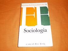sociologia,, enciclopedia feltrinelli fischer  1964