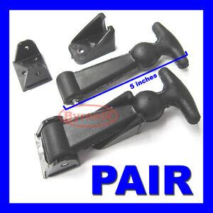 RUBBER BONNET BOOT CATCH PULL STRAPS KIT CAR BOAT CARAVAN NO RUST PLASTIC TABS