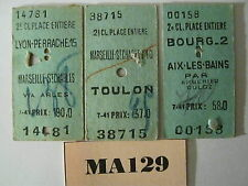 France Railway Tickets x 3 Ref MA129