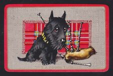 2 Single VINTAGE Swap//Playing Cards DOGS SCOTTIE SPANIEL CRICKET Artist M DENNIS