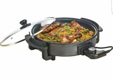 Electric Multi Cooker 33cm Frying Pan with Lid 1500w Portable Non Stick by COOKS