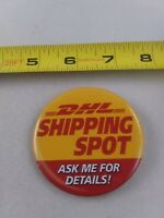 Vintage DHL Shipping Delivery pin button pinback *EE79