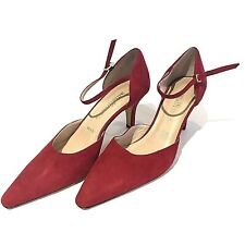 Amalfi Women's Shoes Red Suede Pumps Nordstrom Made in Italy Size 8B