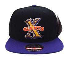 Cuban X-Giants An Negro League Retro Replica Wool Snapback Cap Hat Black Purple