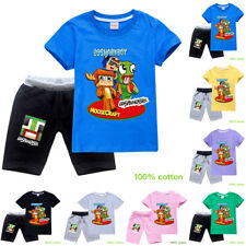 UNSPEAKABLE Youth Children Casual Tracksuit Outfit 100% Cotton T-Shirt + Shorts