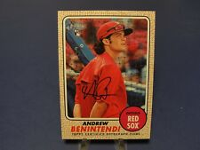 2017 TOPPS HERITAGE HIGH NUMBER ANDREW BENINTENDI REAL ONE AUTOGRAPH