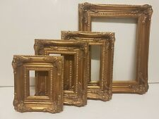 Cornice retta in legno foglia oro. per quadri, foto, stampe,poster ecc. italiane