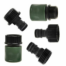 5x Garden Hose Quick Connect Set Kit Plastic 3/4inch Hose Tap Adapter Connector