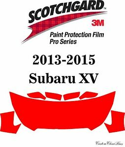 3M Scotchgard Paint Protection Film Pro Series Clear Fits 2013 2015 Subaru XV