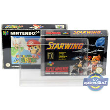 5 x SNES N64 Game Box Protectors for Super Nintendo 0.5mm Plastic Display Case