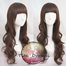 Halloween Wig Hair Cosplay Code:Realize Cardia Brown Long Karneval Anime Wigs