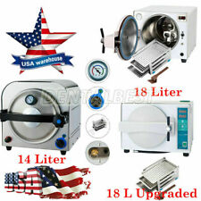 Dental 1418 Liter Steam Sterilizer Autoclave Medical Stainlesss Lab Equipment